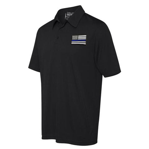 fedab6c9 Polo - Embroidered Thin Blue Line American Flag