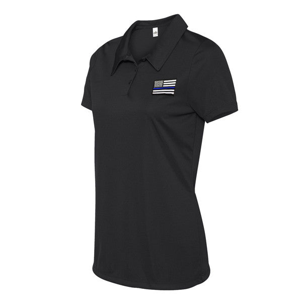 Women s Polo Shirt - Thin Blue Line American Flag - Thin Blue Line USA fcf299ba5d0e