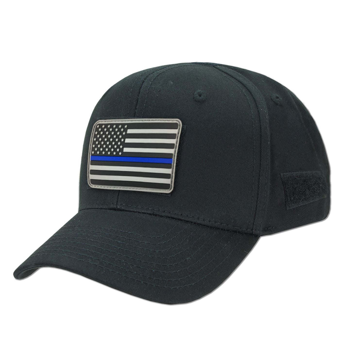 Black Operator s Hat   Thin Blue Line Morale Patch - Thin Blue Line USA 6d263f72edc