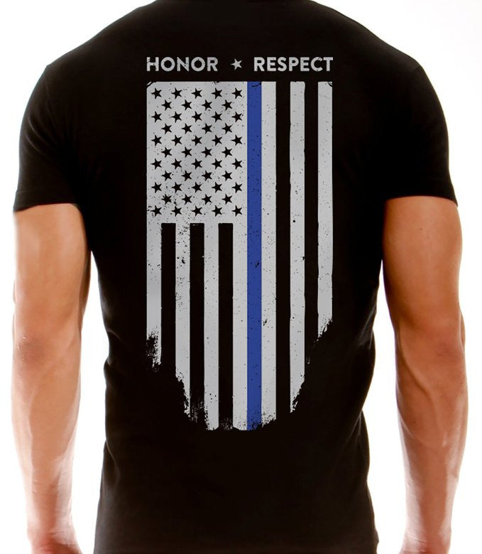 American Flag Blue Line USA Youth/'s T-Shirt Law Enforcement Police Shirts