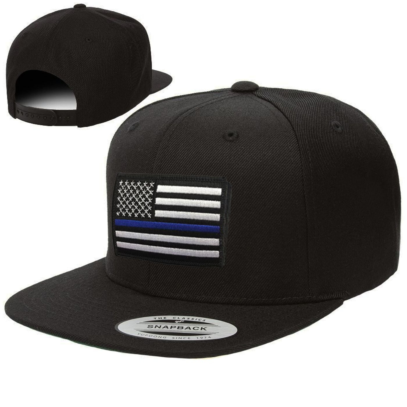 Snapback · Thin Blue Line American Flag - Thin Blue Line USA 2b4512586bf