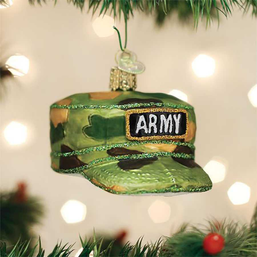 Thin Green Line Ornament Army Cap Thin Green Line Thin Blue Line Usa