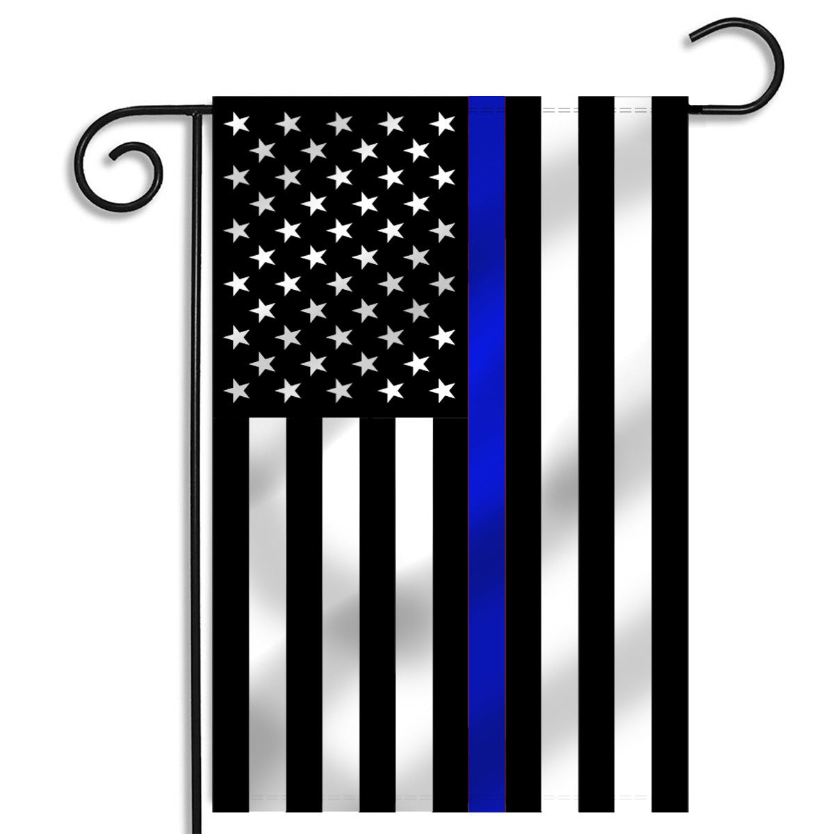 Thin Blue Line American Garden Flag 125 x 18 Inches Thin Blue
