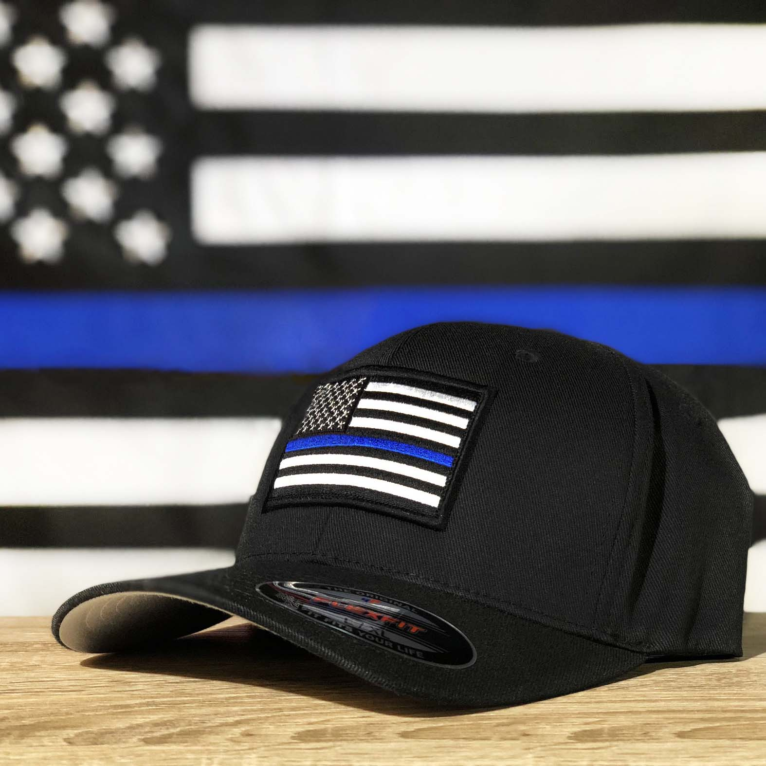 FlexFit Thin Blue Line Hat - Thin Blue Line USA 712639918d6