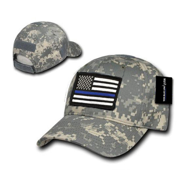d472f807aea Camo Operator s Cap with Thin Blue Line Patch