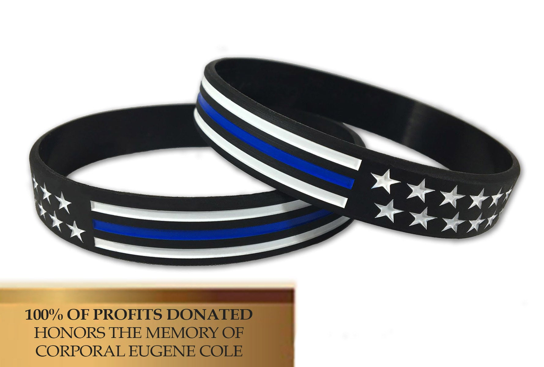 support bangle products thin police spirit sup leather bracelet my blue officer law survival soul line enforcement lives for