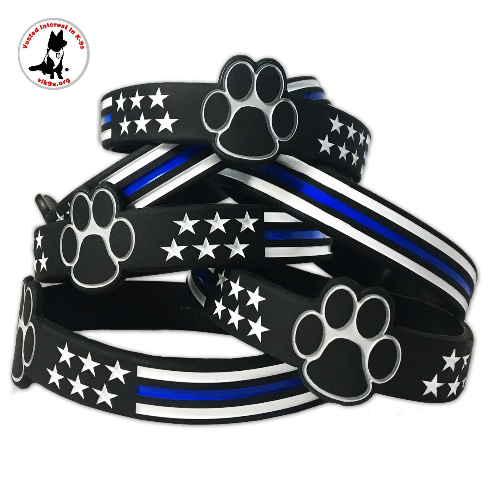 youth area supporting line blue lapd programs wrap thin products bracelet newton