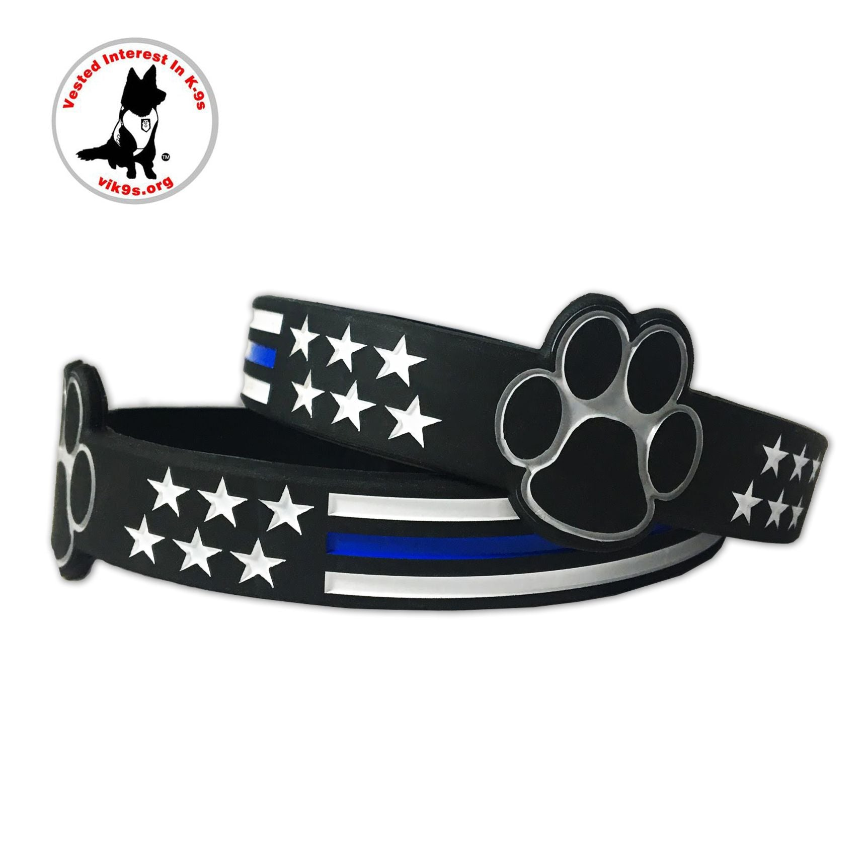 Thin Blue Line Memorial Support Wristband//Bracelet TBL Police New
