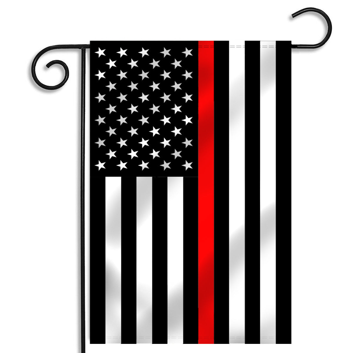 Thin Red Line American Garden Flag   12.5 X 18 Inches   Thin Blue Line USA