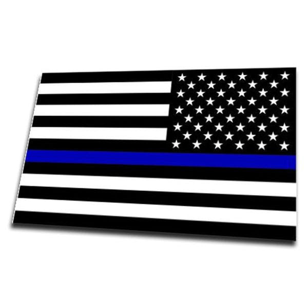 reversed thin blue line american flag sticker 4 x 6 5 inches thin blue line usa. Black Bedroom Furniture Sets. Home Design Ideas