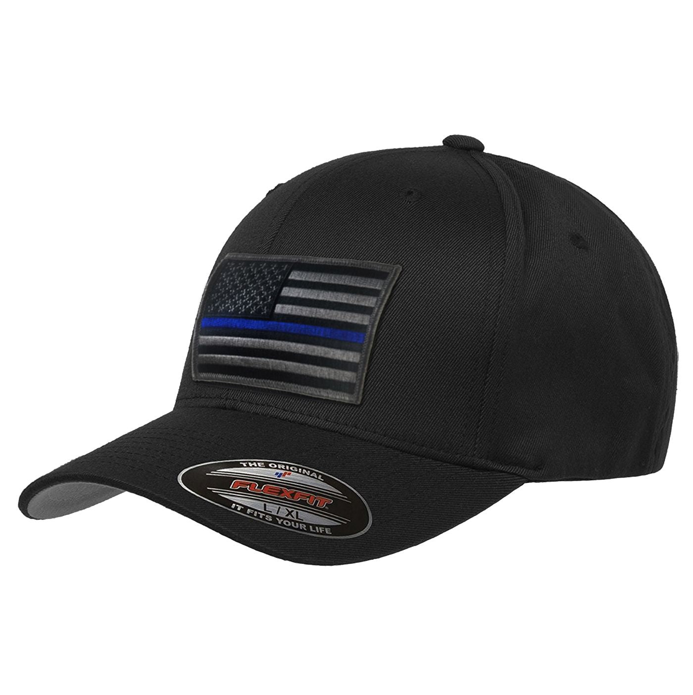 FlexFit Subdued Thin Blue Line Hat 79465294fadc