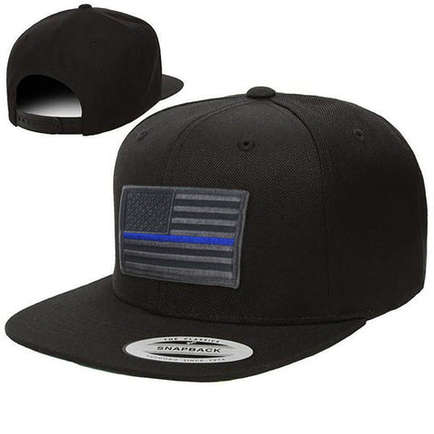 Snapback · Subdued Thin Blue Line American Flag 70afd8183b6