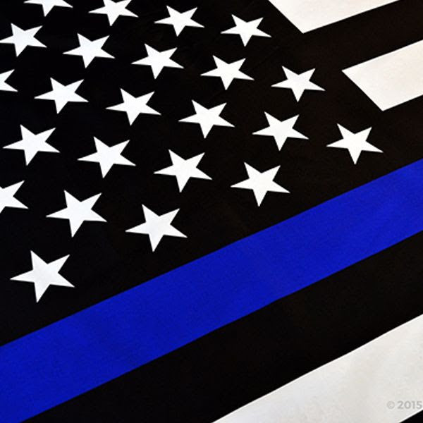 Thin Blue Line American Flag With Grommets