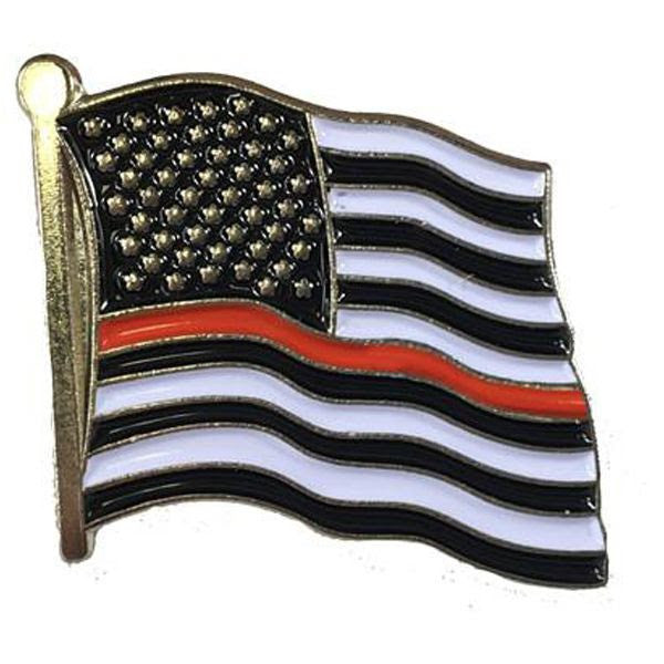 Thin Red Line Flag Pin