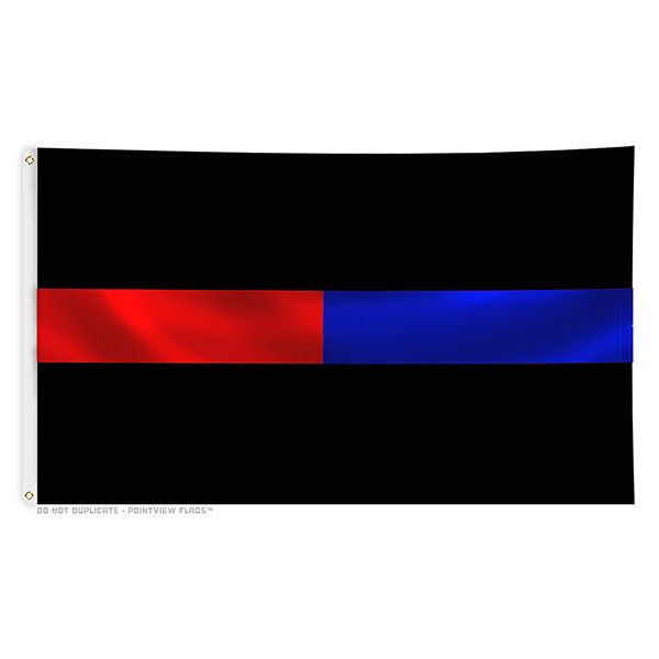 Thin Red Line Thin Blue Line - 3 x 5 Foot Flag with Grommets - Thin ... fcc85c37b9c