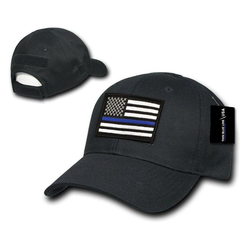222902de7 Operator's Cap with Thin Blue Line Patch