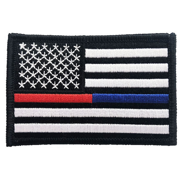 Red Line American Flag >> Thin Blue Red Line American Flag Patch Sew On