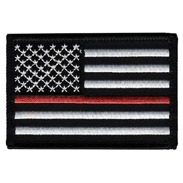 Red Line American Flag >> Velcro Patch Thin Red Line American Flag 3 X 2 Inches