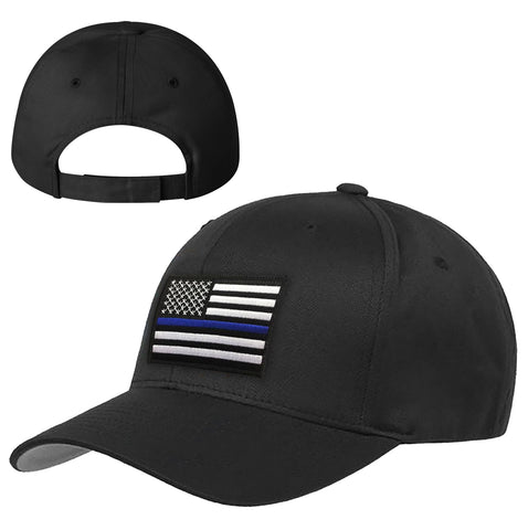 c152714fafd Youth Velcro Hat - Thin Blue Line American Flag