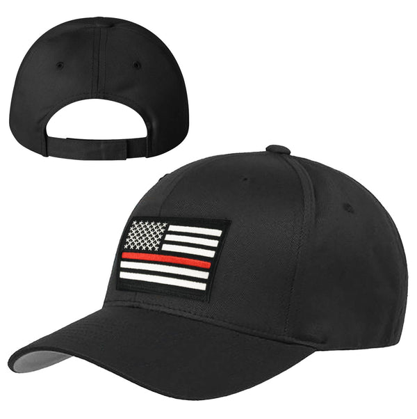 90b033142 Thin Red Line American Flag Hat, Velcro Back