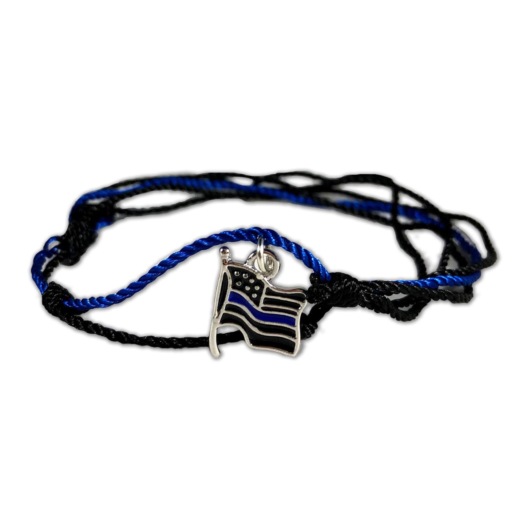 bracelet ribbon lrg line wide thin blue thickthinblueline