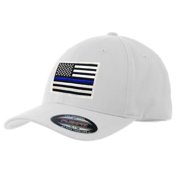 FlexFit Thin Blue Line American Flag Hat 39e93c42bfb