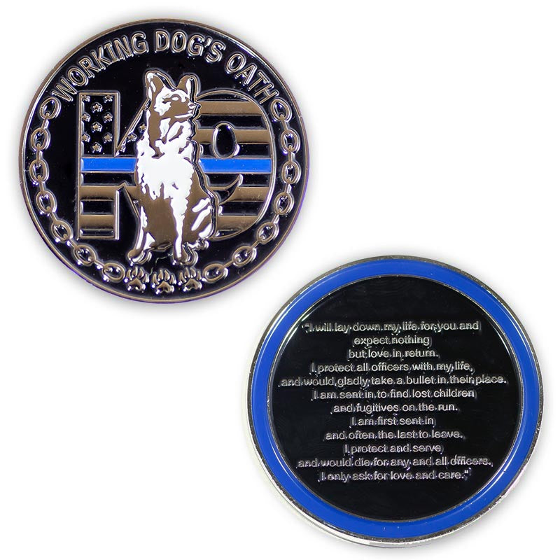 Challenge Coin - K9 Working Dog's Oath