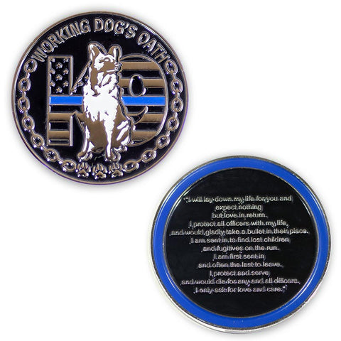 Thin Blue Line Challenge Coins | Thin Blue Line USA