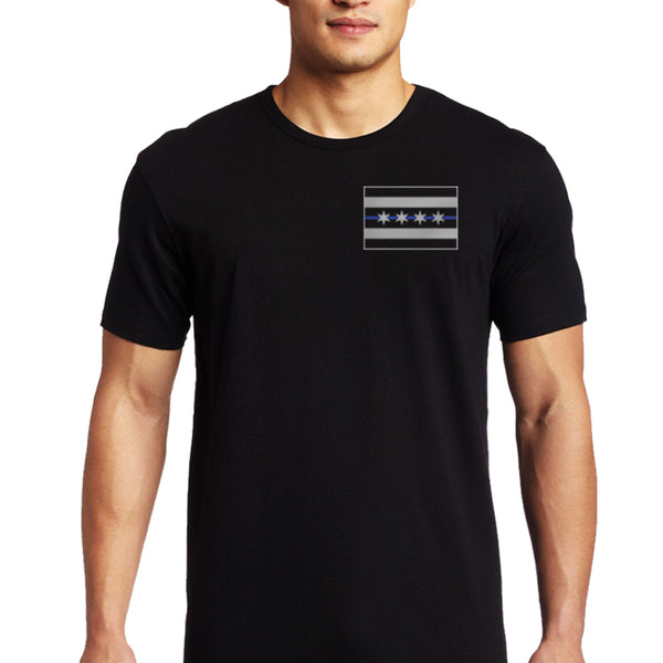 Chicago thin blue line thin blue line usa for Cheap t shirt printing chicago