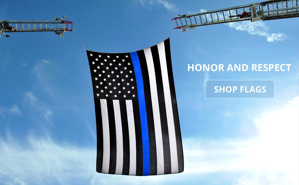 Official Thin Blue Line Flag