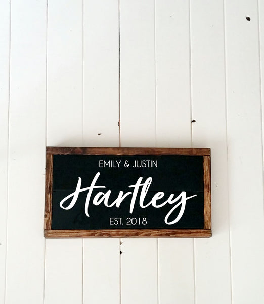Personalized Family Name Wood Plank Sign-Handmade to Order