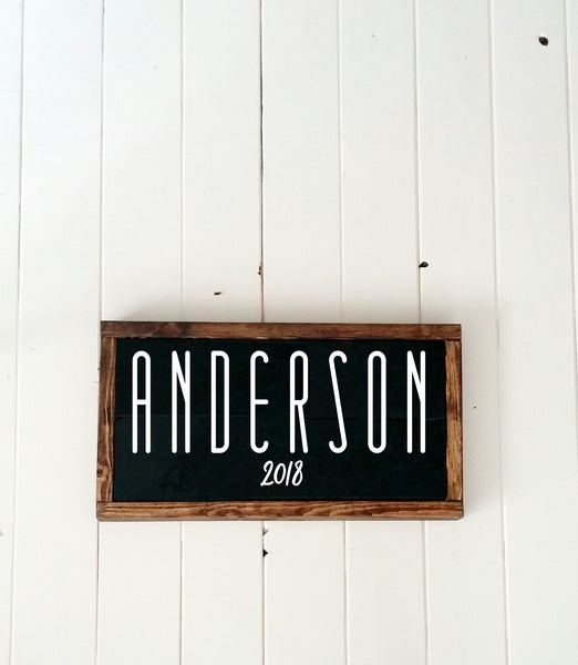 Personalized Family Name Sign-Handmade to Order