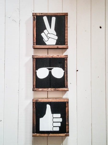 Thumbs Up Icon Modern Apartment Wall Art - Handmade Ready to Ship