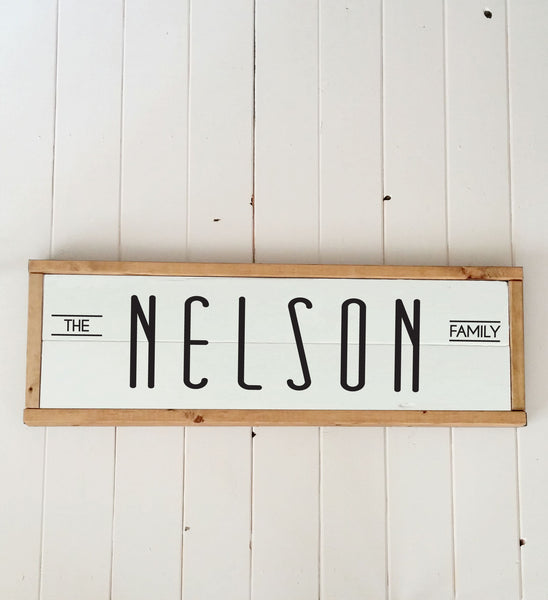 Personalized Last Name Wood Plank Sign - Handmade to Order