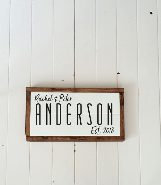 Personalized Family Name Wood Sign-Handmade to Order