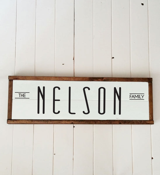 Last Name Wood Plank Sign Personalized-Handmade to Order