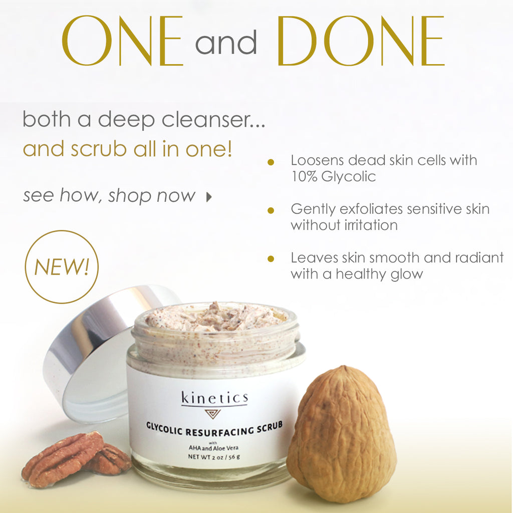 exfoliating mask with walnut shell and glycolic acid