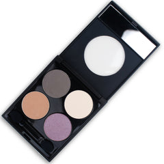 Talc Free Mineral Eye Shadow Palette - Smoky Lavender
