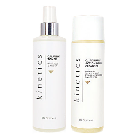 Quadruple action cleanser & Calming Large Set