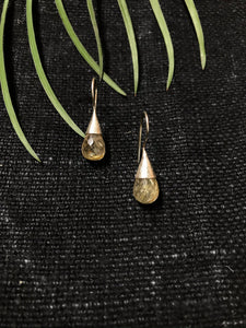 Citrine Tear Drop Earrings
