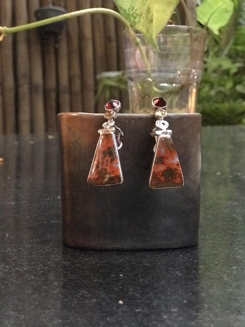 Agate Dangle Earrings