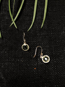Green Amethyst Circular Drop Earring