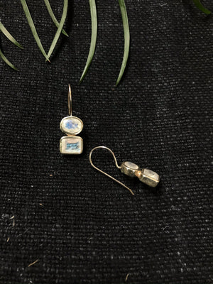 Rectangle Drop Earings