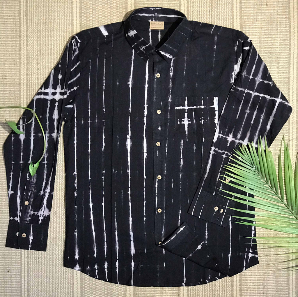 Shibori Black - Full Sleeve Shirt