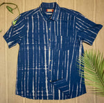 Shibori Blue - Half Sleeve Shirt