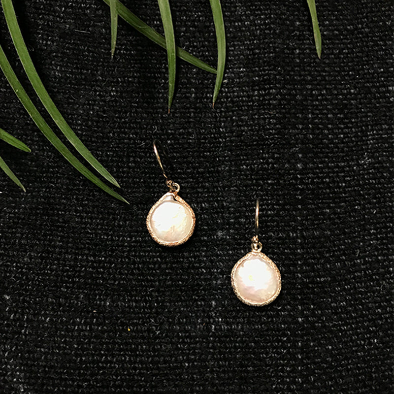 Pearl Circular Drop Earrings