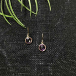 Amethyst Circular Drop Earrings