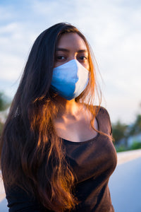 Covid Care Masks - Indigo Ombré