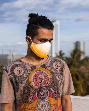 Covid Care Masks - Yellow Shibori