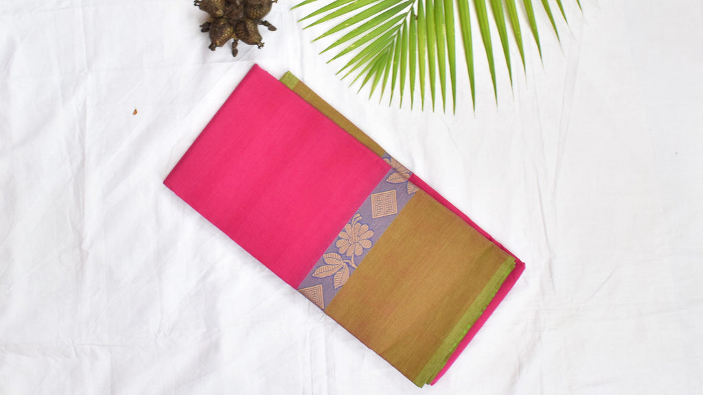 Magenta Magic - Kanchi Cotton Saree
